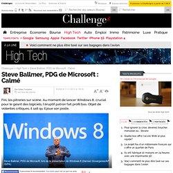 Le patron de Microsoft s'est calmé