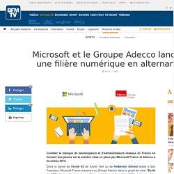 Microsoft et le Groupe Adecco lancent une filière numérique en alternance