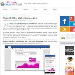 Microsoft Office 2016 arrivera en 2015