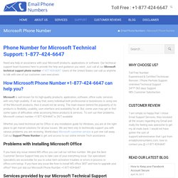 Microsoft Office Contact Phone Number 1-877-424-6647