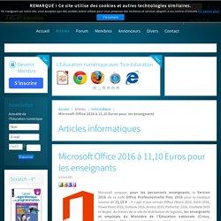 Microsoft Office 2016 à 11,10 Euros pour les enseignants