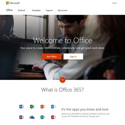Onlinesoftware, gehost in de cloud - Office 365 - Microsoft