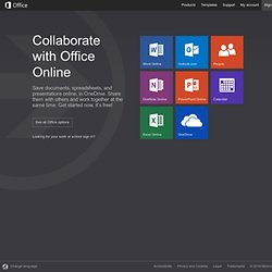 Microsoft Office Online - Word, Excel, and PowerPoint on the web