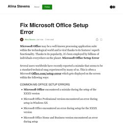 Fix Microsoft Office Setup Error.