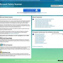 Microsoft Safety Scanner - Outil en ligne gratuit pour la sécurité et l'intégrité des ordinateurs