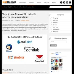 Free Microsoft Outlook alternative email client