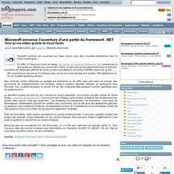 Microsoft annonce l'ouverture d'une partie du framework .NET, ainsi qu'une édition gratuite de Visual Studio