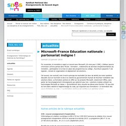 Microsoft-France Education nationale : partenariat indigne !