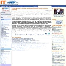Microsoft propose de nouveaux outils pédagogiques pour favoriser l'éducation numérique