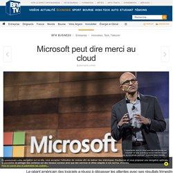 Microsoft peut dire merci au cloud