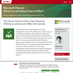 Microsoft Planner – pourquoi l'utiliser - TPG