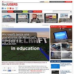 Microsoft lanza una plataforma de Minecraft orientada a la educación