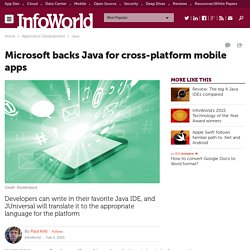 Microsoft backs Java for cross-platform mobile apps