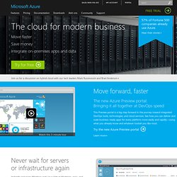 Products -- Windows Azure Platform