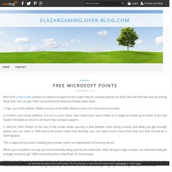 Free Microsoft Points - elazargaming.over-blog.com