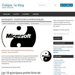 Microsoft : points forts, points faibles…