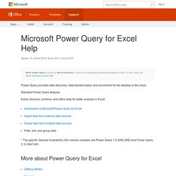 Microsoft Power Query for Excel Help