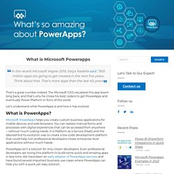 What is Microsoft Powerapps — Beyond Intranet