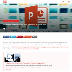 5 Sites with Microsoft PowerPoint Templates, & Other Tools