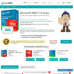 MB2-714 Microsoft Practice Questions - Pass MB2-714 Exam