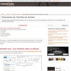 Microsoft Outlook : présentation des éléments de l'interface