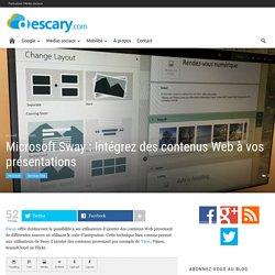Microsoft Sway : Intégrez des contenus Web à vos présentations