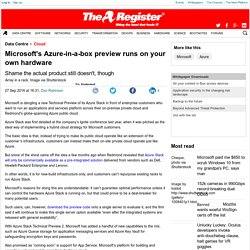 Microsoft's Azure-in-a-box preview runs on your own hardware