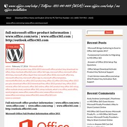 full microsoft office product information