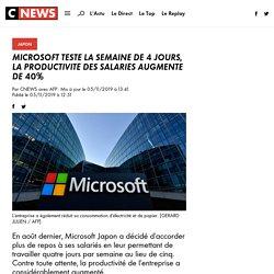 Microsoft teste la semaine de 4 jours, la productivité des salariés augmente de 40%