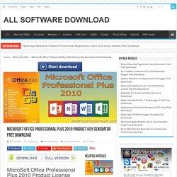 Microsoft Office 2010 key generator