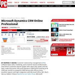 Review Microsoft Dynamics CRM Online: Microsoft Dynamics CRM Online Professional