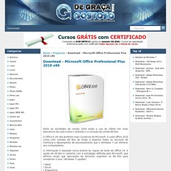 Microsoft Office Professional Plus 2010 x86 - Baixar
