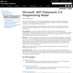 NET Framework 3.0 Programming Model