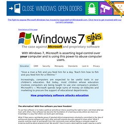 Windows 7 Sins — The case against Microsoft and proprietary software - Iceweasel