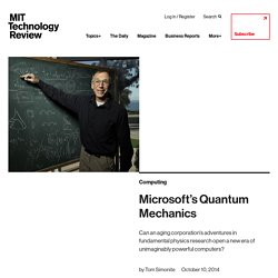 Microsoft's Quantum Mechanics