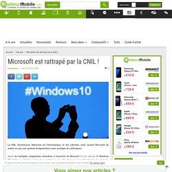 Microsoft est rattrapé par la CNIL