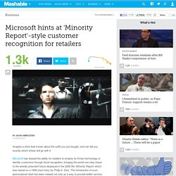 Microsoft hints at 'Minority Report'-style customer recognition for retailers