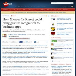 How Microsoft's Kinect could bring gesture recognition to business apps