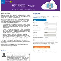 Microsoft Advanced Analytics Registration