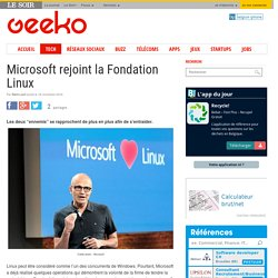 Microsoft rejoint la Fondation Linux