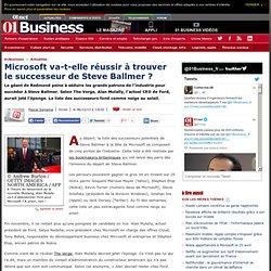 Microsoft va-t-elle réussir à trouver le successeur de Steve Ballmer ?