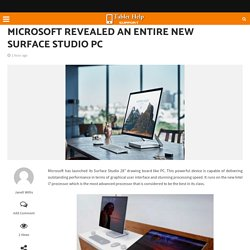 Microsoft revealed an entire new Surface Studio PC