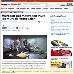 Microsoft RoomAlive fait vivre les murs de votre salon