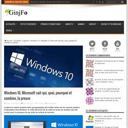 Microsoft sait qui, quoi, pourquoi et combien, la preuve