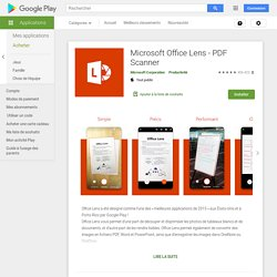 Microsoft Office Lens - PDF Scanner - Aplicaciones en Google Play