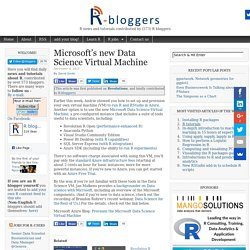 Microsoft's New Data Science Virtual Machine