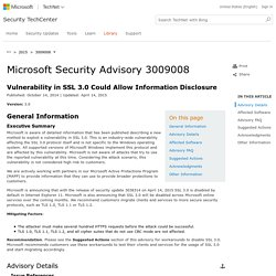 Microsoft Security Advisory 3009008