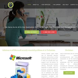 Microsoft Security Antivirus Internet Security Tech Support Number