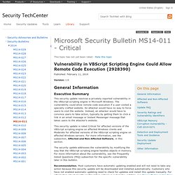 Security Bulletin MS14-011 - Critical