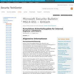 Security Bulletin MS14-051 – Kritisch